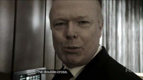 Franklin (Christian Clemenson) revealing there was a double-cross.
