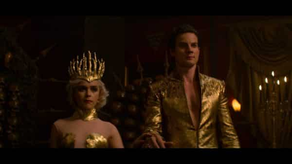 Sabrina and Lucifer as King and Queen.