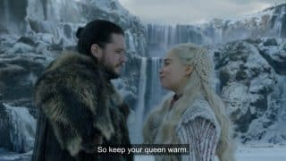 Daenerys flirting with Jon.