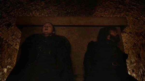 Sansa and Tyrion hiding as others get killed.