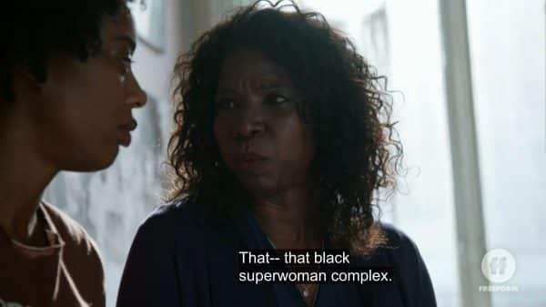 Sandra giving Malika permission to be vulnerable.