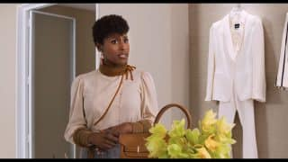 April (Issa Rae) offended by something Jordan said.