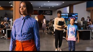 Jordan (Regina Hall), April (Issa Rae) and Stevie (Marley Taylor) after Stevie wishes she was little.