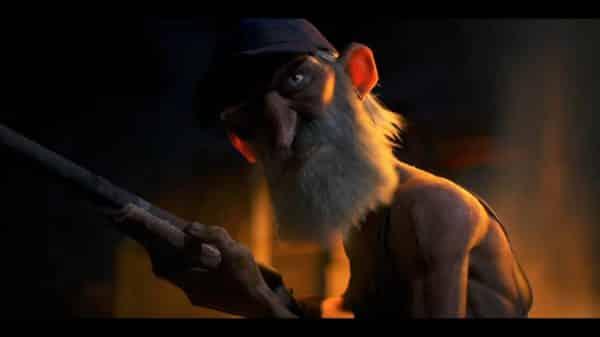 Dave (Nolan North) with shotgun in hand.
