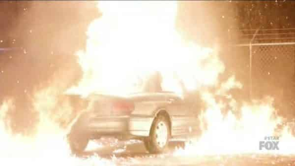 Angel likely dying in a car explosion.