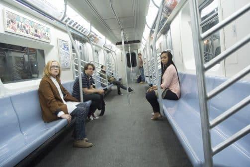 Sue (Amy Madigan), Caleb (Gerard Canonico), Alicia (Arden Cho), Ramon (Omar Chaparro), and Eve (Ashanti) in the movie Stuck