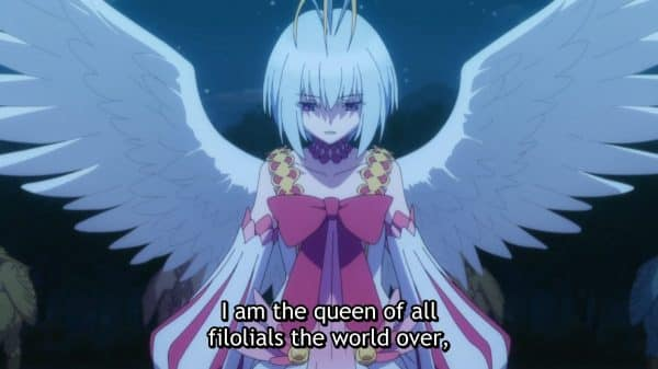 Fitoria noting she is the queen of all filolials around the world.