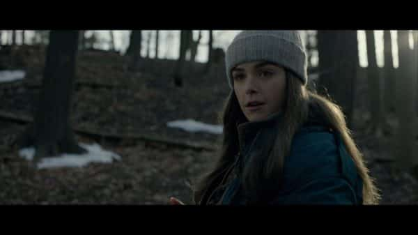 Ally (Kiernan Shipka) at the end of the movie killing Vesp.
