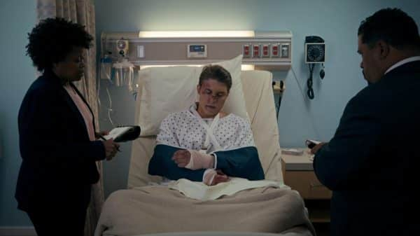 Andrew (Nolan Gerald Funk) in the hospital.