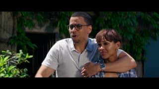 Annie (Meagan Good) and Scott (Michael Ealy) as Charlie leaves.