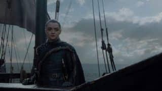 Arya on the high seas heading west.