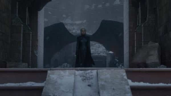 Daenerys announcing her victory after walking off of Drogon.