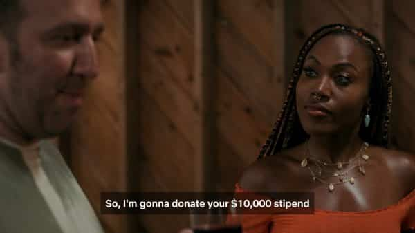 Dean telling Nola he is going to donate her $10K stipend to a HBCU.