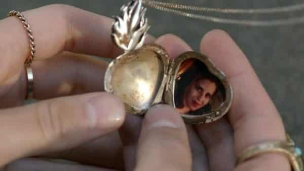 Don Fully's locket featuring a picture of Vida.
