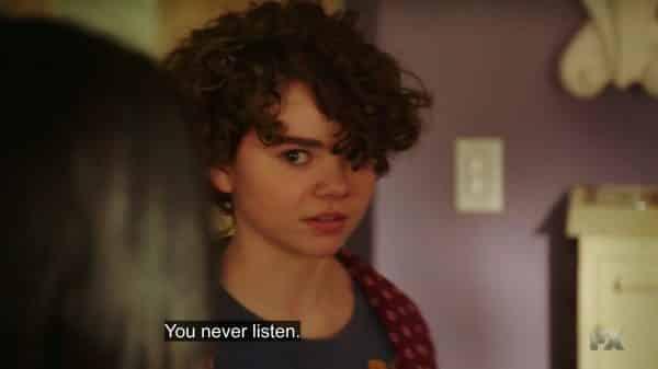 Frankie noting Sam never listens to her.