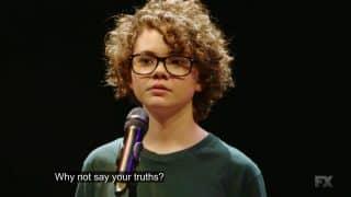 Frankie during her slam poem.