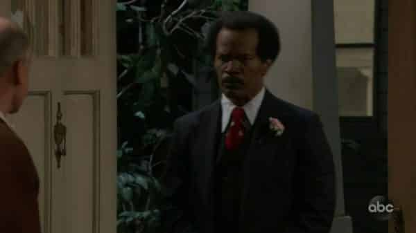 George Jefferson (Jamie Foxx) during his first appearance on the special.