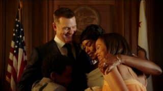 Bobby, Athena, and her kids, at Bobby and Athena's wedding.