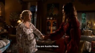 Linda reassuring Maze that she has a family.