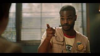 Logan (Andrew Bachelor) messing with a camper.