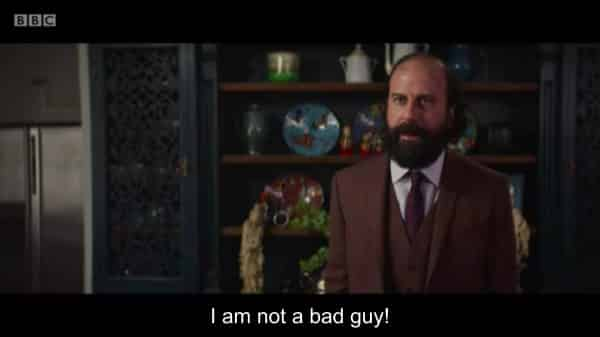 Martin (Brett Gelman) saying he isn't a bad guy.