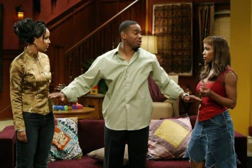 Neesee (LisaRaye McCoy), Robert Sr. (Duane Martin), and Tia (Elise Neal) in the middle of a tiff.