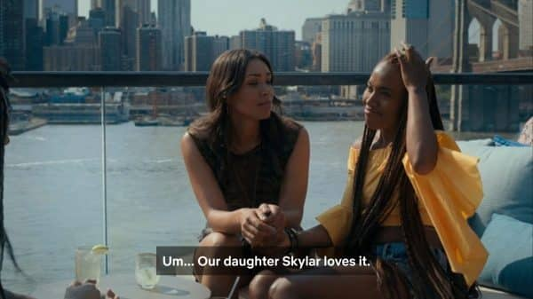 Nola saying that Skylar is her and Opal's daughter.