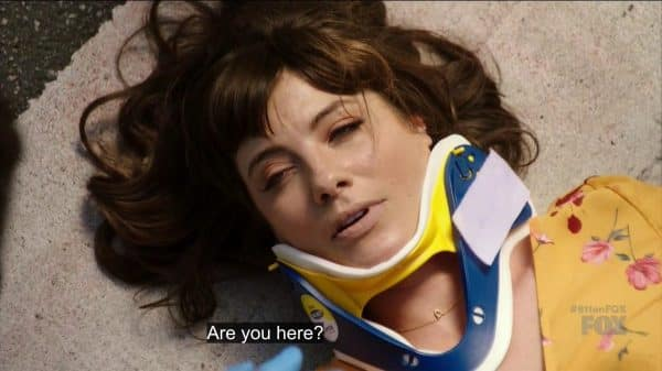 Shannon after she was hit by a car.