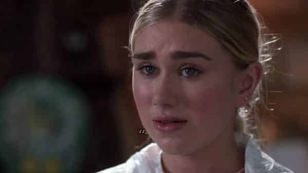 Amber crying as she talks about falling in love with Jonah.