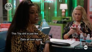 Desna complaining about what Melba and Mac are doing.