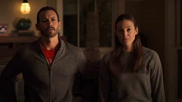 Doug and Jenna (Dana Green) confronting Elodie for sneaking out.