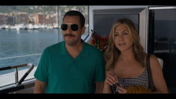 Nick (Adam Sandler) and Audrey (Jennifer Aniston) - Murder