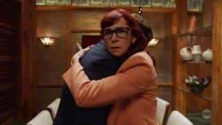 Polly hugging Joe.