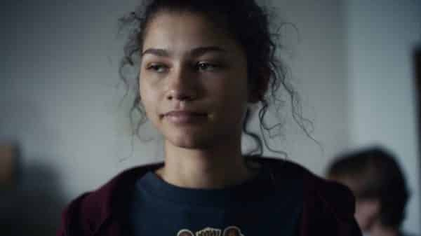 Rue (Zendaya) during the short time she is clean.