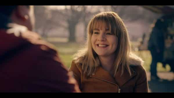 Rosie (Ruth Madeley) talking to a guy she fancies.