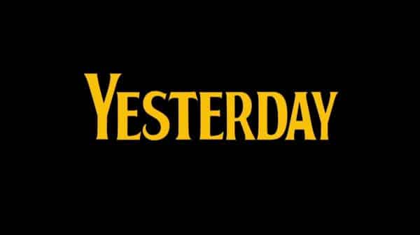 Title Card - Yesterday (2019)