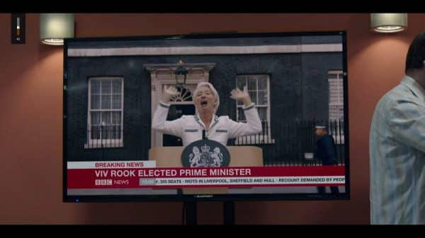 Vivienne being announced as prime minister.