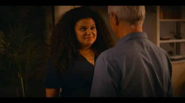 Wren (Michelle Buteau) talking to Brian.