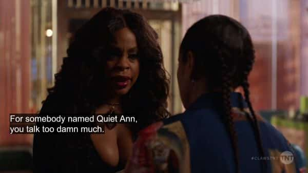 Desna admonishing Quiet Ann.