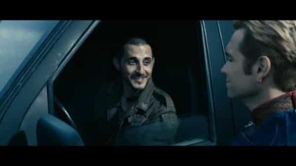 Frenchie (Tomer Capon) nervously talking to Homelander.