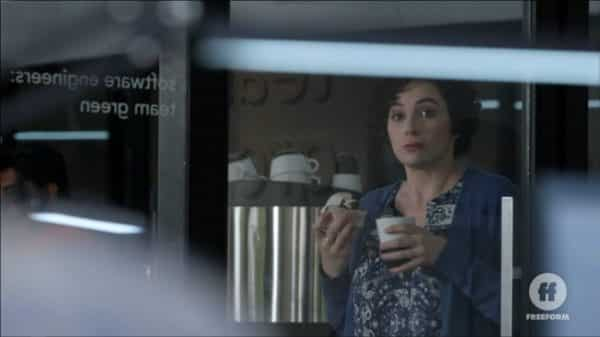 Gina (Rachel Rosenbloom) catching Raj and Mariana be subtle, but intimate.