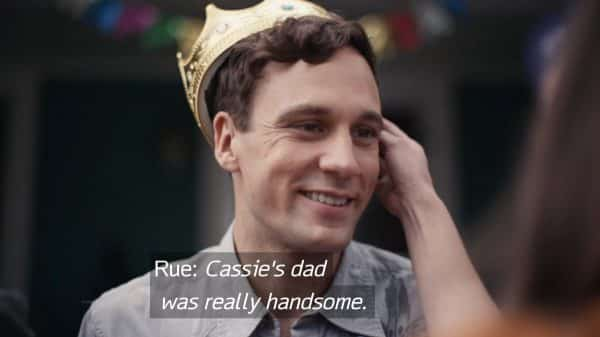 Gus (Nick Blood) at a party for Cassie.