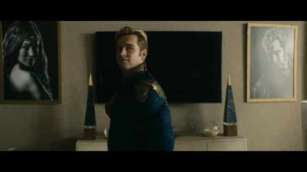 Homelander (Anthony Starr) having a meeting with Madelyn.