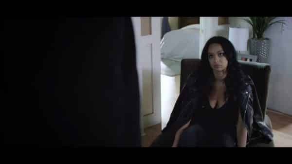 Laura (Draya Michele) waiting for Thomas to come home.