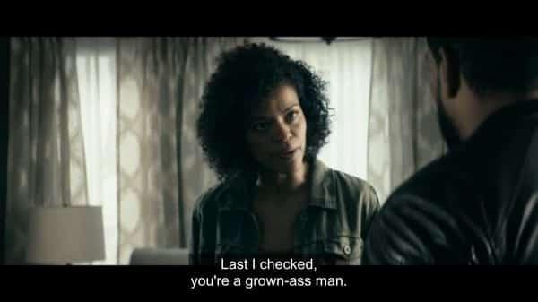Monique (Alvina August) questioning MM's decisions.