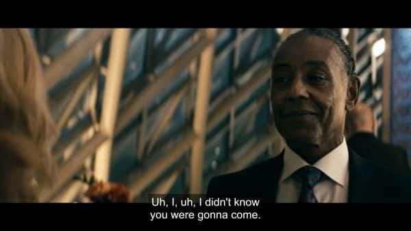 Mr. Edgar (Giancarlo Esposito) surprising Madelyn.