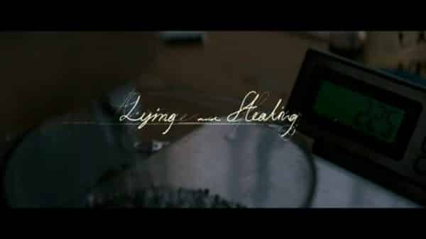 Title Card - Lying and Stealing (2019)