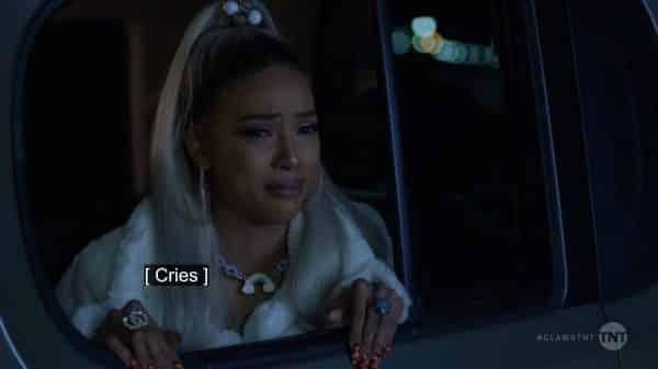 Virginia crying.