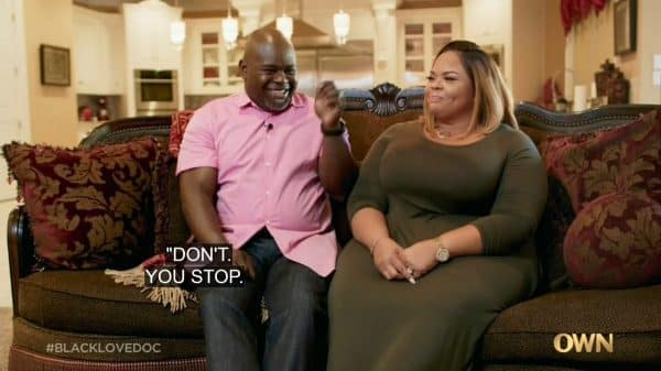 David and Tamela Mann talking about one of their first times together.