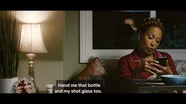 Dolly (Telma Hopkins) asking for her whiskey.